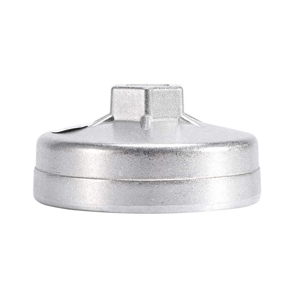Fydun Wrench 74mm 14 Fl/ûte Filtre /à huile en aluminium Cl/é Socket Remover Outil 903 Argent Couleur 1 pcs