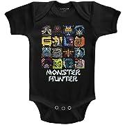 Monster Hunter - Unisex-Baby Symbols Onesie, Size: 6M, Color: Black