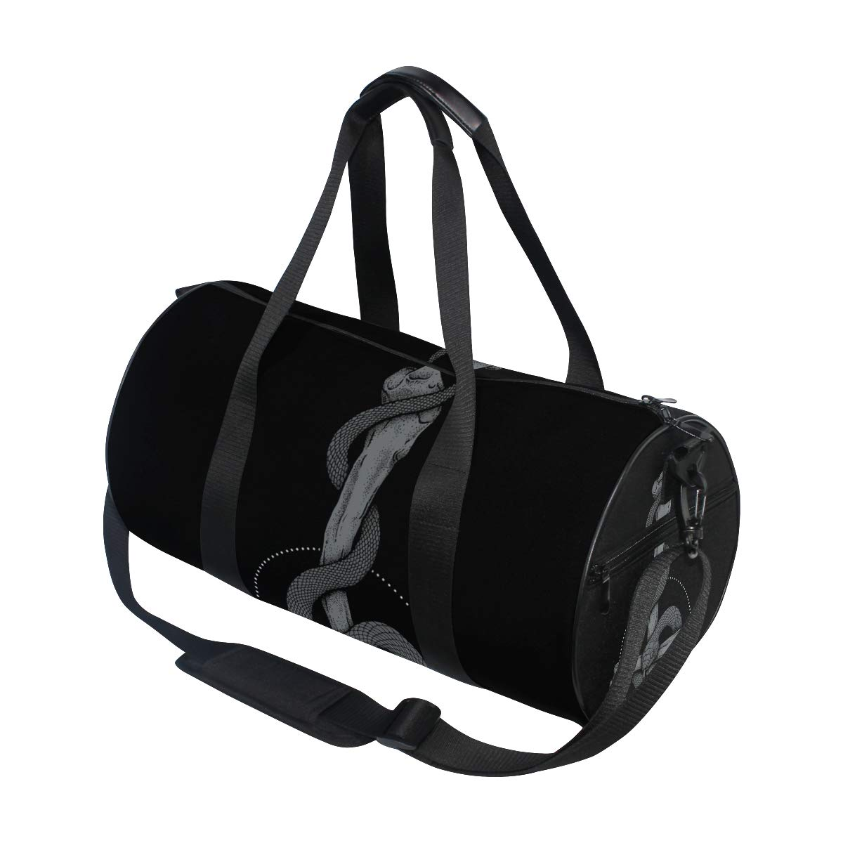 Travel Weekender Duffel Bag for Man and Woman Gym Bag with Snake Sin Bone Print