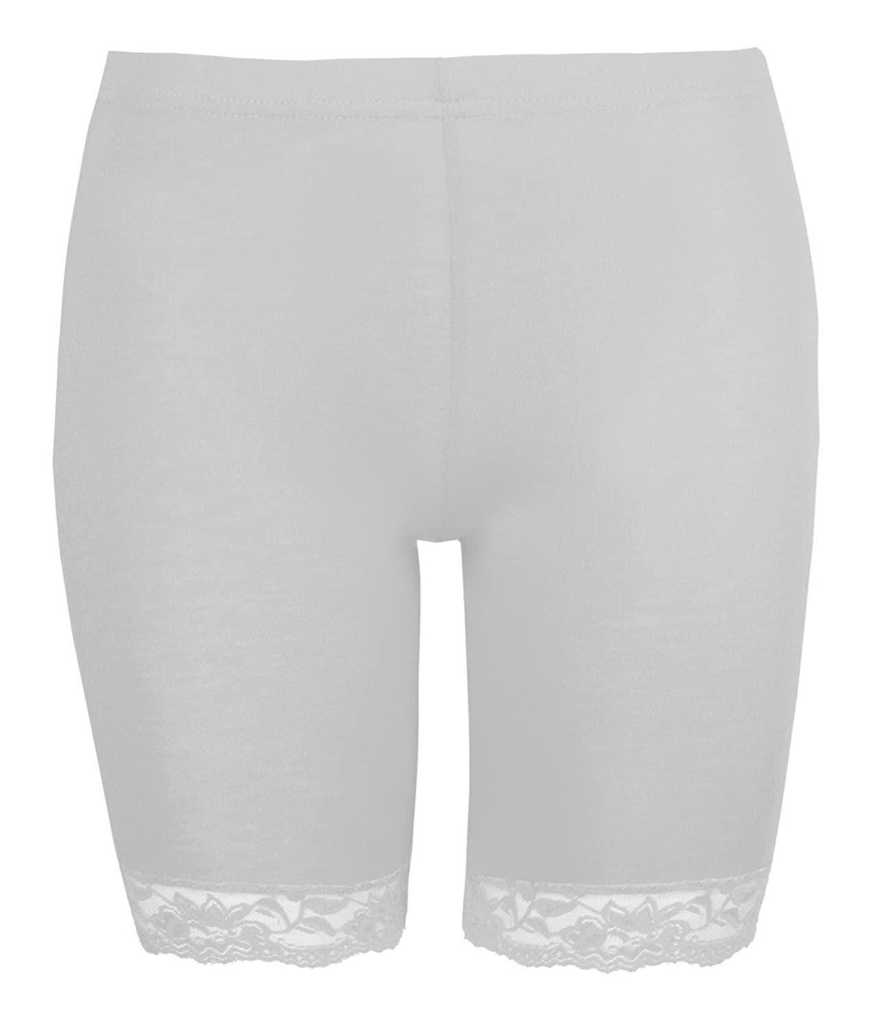Womens Shorts Ladies Cycling Shorts By Love Lola® Lace Trim Cycle ...