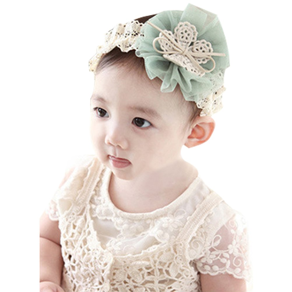Boboder Baby Girls Headbands Pure Color High Elastic Bowknot Hairband for Kids Toddler Infant 20pcs