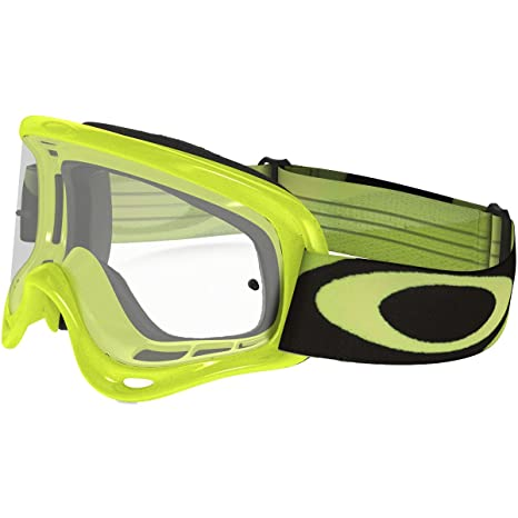 dbf0de2e6c Amazon.com  Oakley XS O-Frame MX Youth Dirt Off-Road Motorcycle Goggles  Eyewear - Green Clear One Size Fits All  Automotive