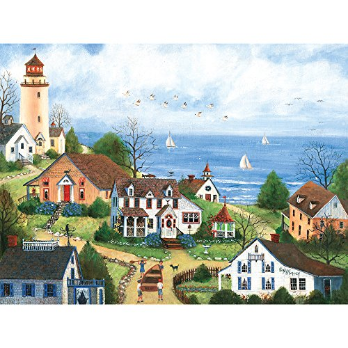 Bits and Pieces - 300 Large Piece Jigsaw Puzzle for Adults - Bon Voyage - 300 pc Summer by the Sea Jigsaw by Artist Mary Ann Vessey