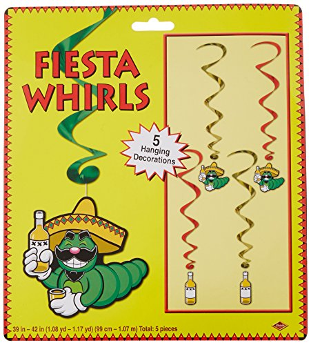 Fiesta Whirls   (5/Pkg) (Amols Fiesta Party Supplies)