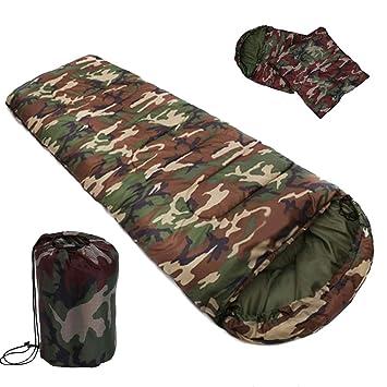 Oasislove Saco de Dormir de Camuflaje de algodón, Estilo Sobre Militar, Sacos de Dormir de Camuflaje: Amazon.es: Deportes y aire libre