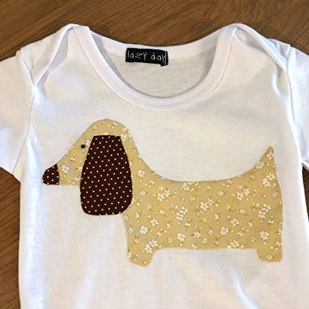 Protected by Weiner Dog Baby Bodysuit Cute New Gift Choose Size /& Color