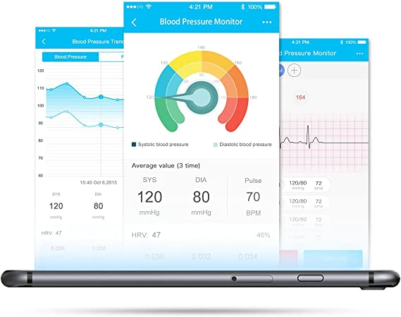 Koogeek Tensiómetro de Brazo Bluetooth Wifi Monitor de Presión ...