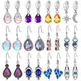 12 Pair Crystal Drop Dangle Earrings for Women Girls Fashion Jewelry Cubic Zirconia Teardrop Earrings Set Birthday Christmas