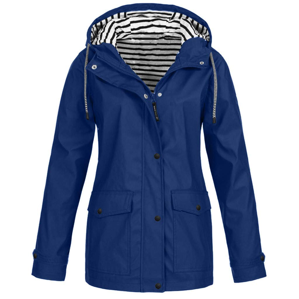 Women Coats Jacket Raincoat Overcoat Blouses Waterproof Windproof Hooded Tops Sweater Winter Long Sleeve Trench Sweatshirt Ladies Girls Outwear Thickened Suit Blazer Tailcoat Sportswear Shirt by BBTshop