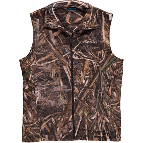 Columbia Mens PHG Camo Fleece Vest, Realtree Max5, Small (Camouflage Vest)