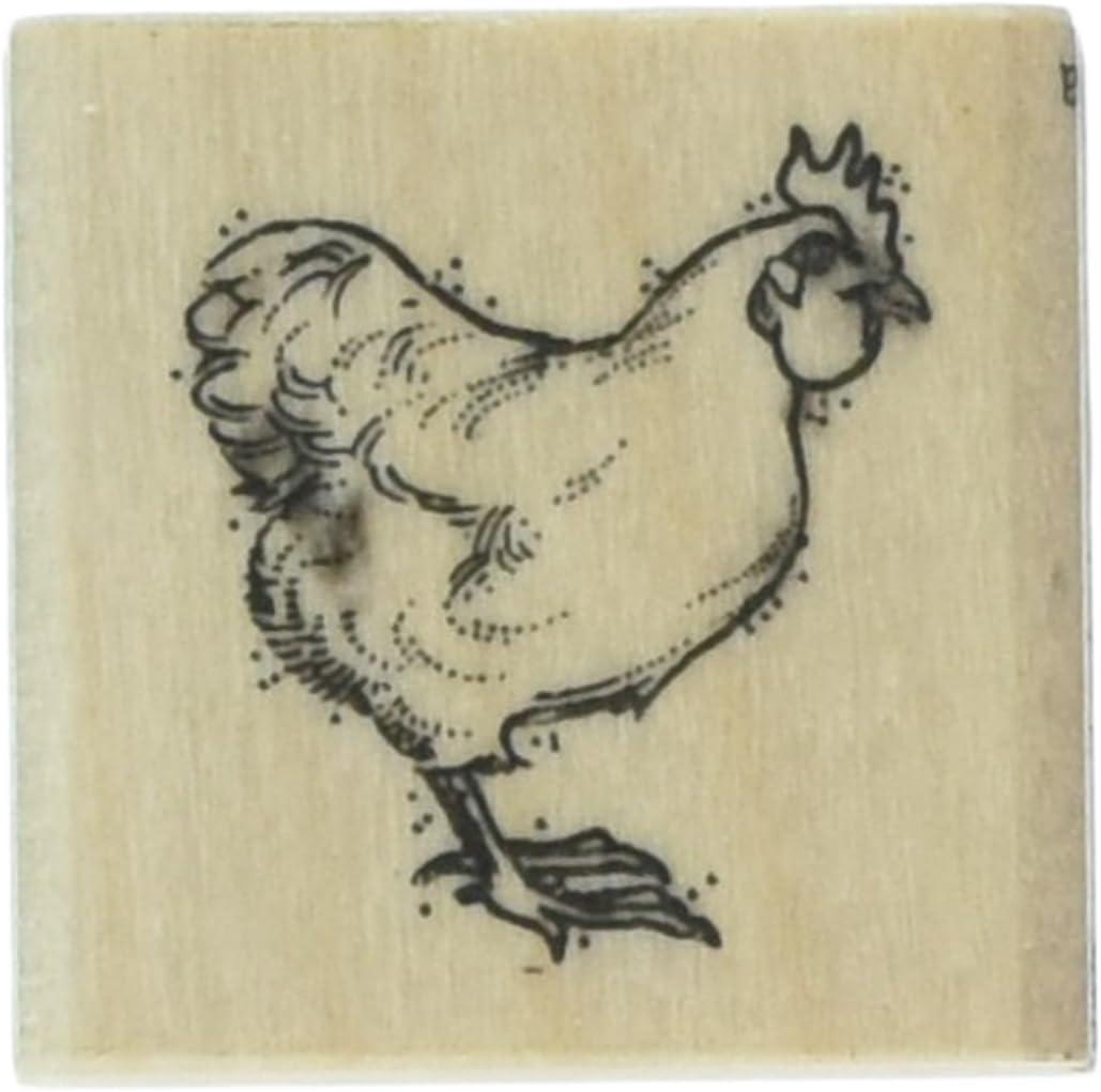 P58 Hen chicken rubber stamp