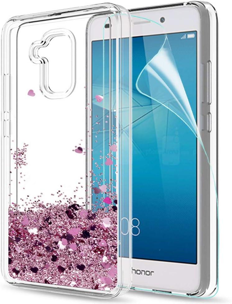 LeYi Funda Huawei Honor 5C Silicona Purpurina Carcasa con HD ...