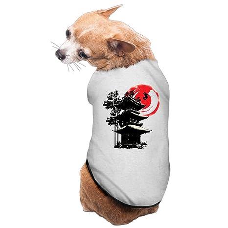 Ninja y japonés templo moda de mascota Perro vestido forro ...