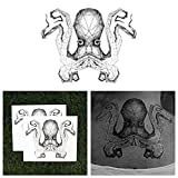 Tattify Octopus Temporary Tattoo - Release the Kraken (Set of 2) - Other Styles Available and Fashionable Temporary Tattoos - Tattoos that are long lasting and Waterproof