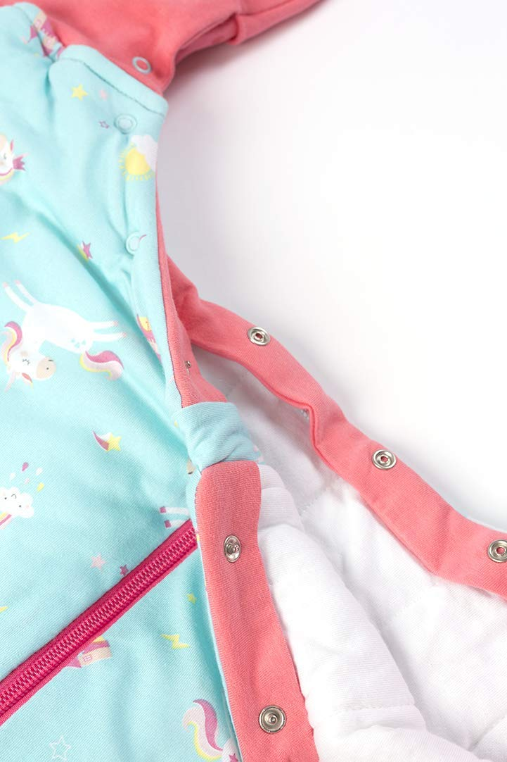 Elefanten Pink//Grau Schlummersack M/ädchen Schlafsack mit F/üssen f/ür den Winter in 3.5 Tog 70 cm