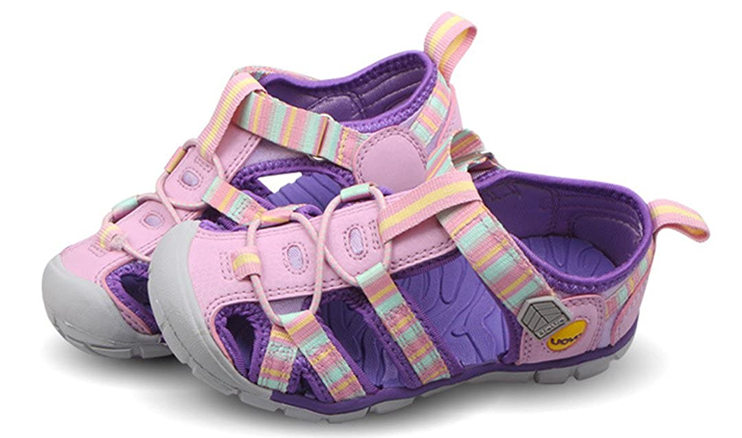 iDuoDuo Boys Girls Bright Party Beach Class Athletic Closed-Toe Fisherman Sandals Size 9-2