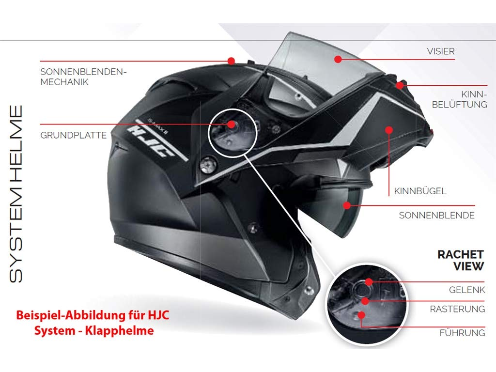 Casco de moto HJC IS Max II Mine MC4HSF, negro/amarillo, tamaño L: Amazon.es: Coche y moto
