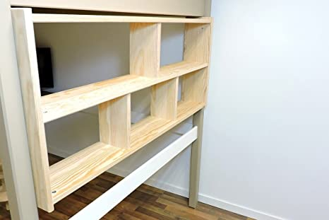 Legno Grezzo Per Mensole : Abc meubles mensola a muro per letto a soppalco eta legno