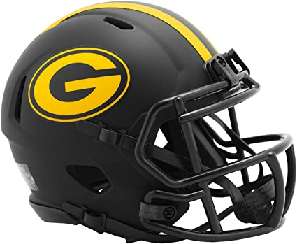 Amazon Com Riddell Green Bay Packers 2020 Black Revolution Speed Mini Football Helmet Toys Games