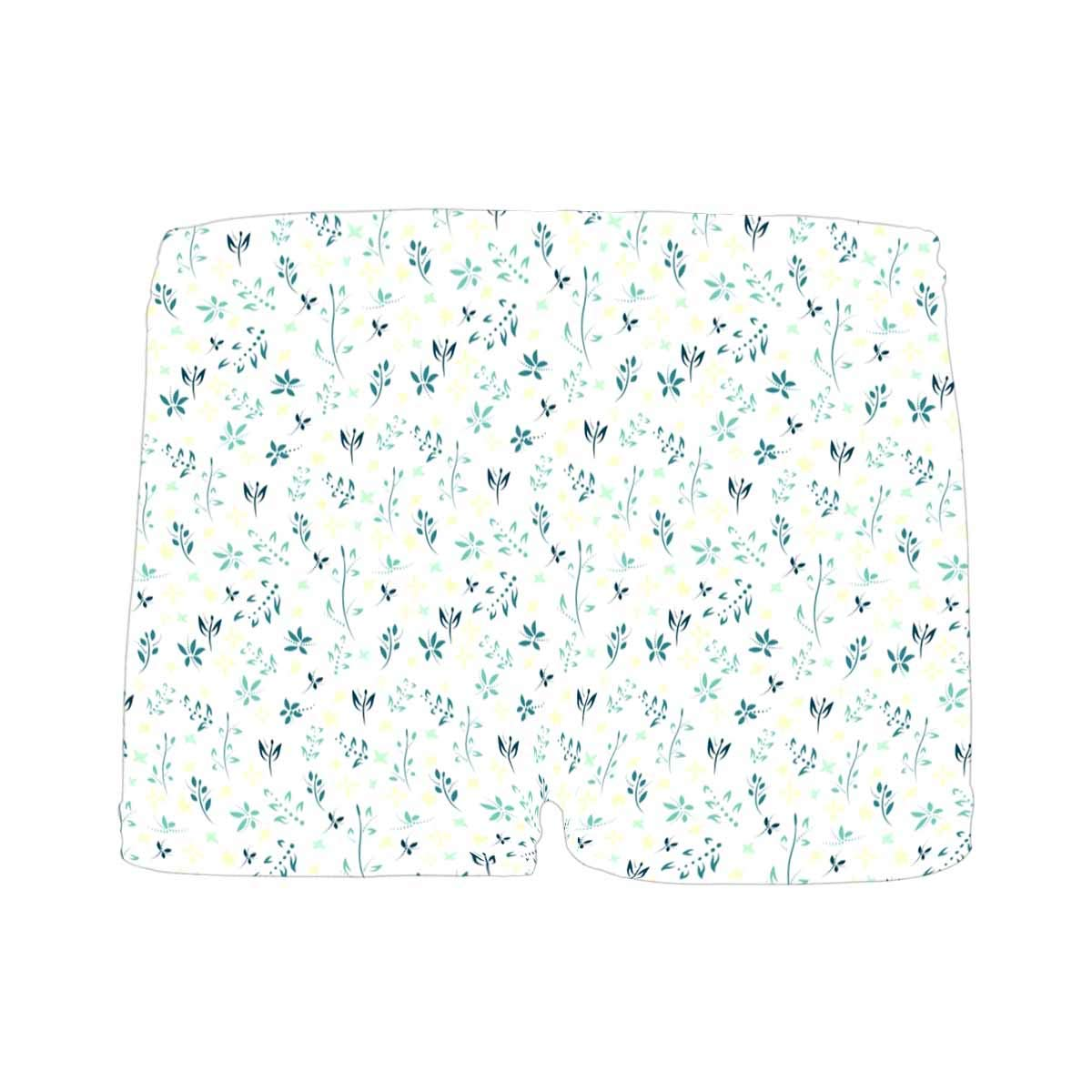 INTERESTPRINT Boys Spring Floral with Flowers and Leaves All Over Print Boxer Briefs 5T-2XL