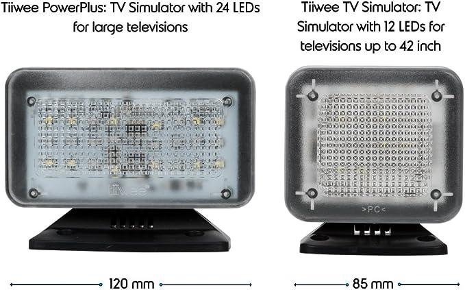 tiiwee Simulador de TV PowerPlus - 24 LED TV Falsa - Completo con el Adaptador de Red - Simulador de TV para televisores grandes o grandes habitaciones: Amazon.es: Hogar