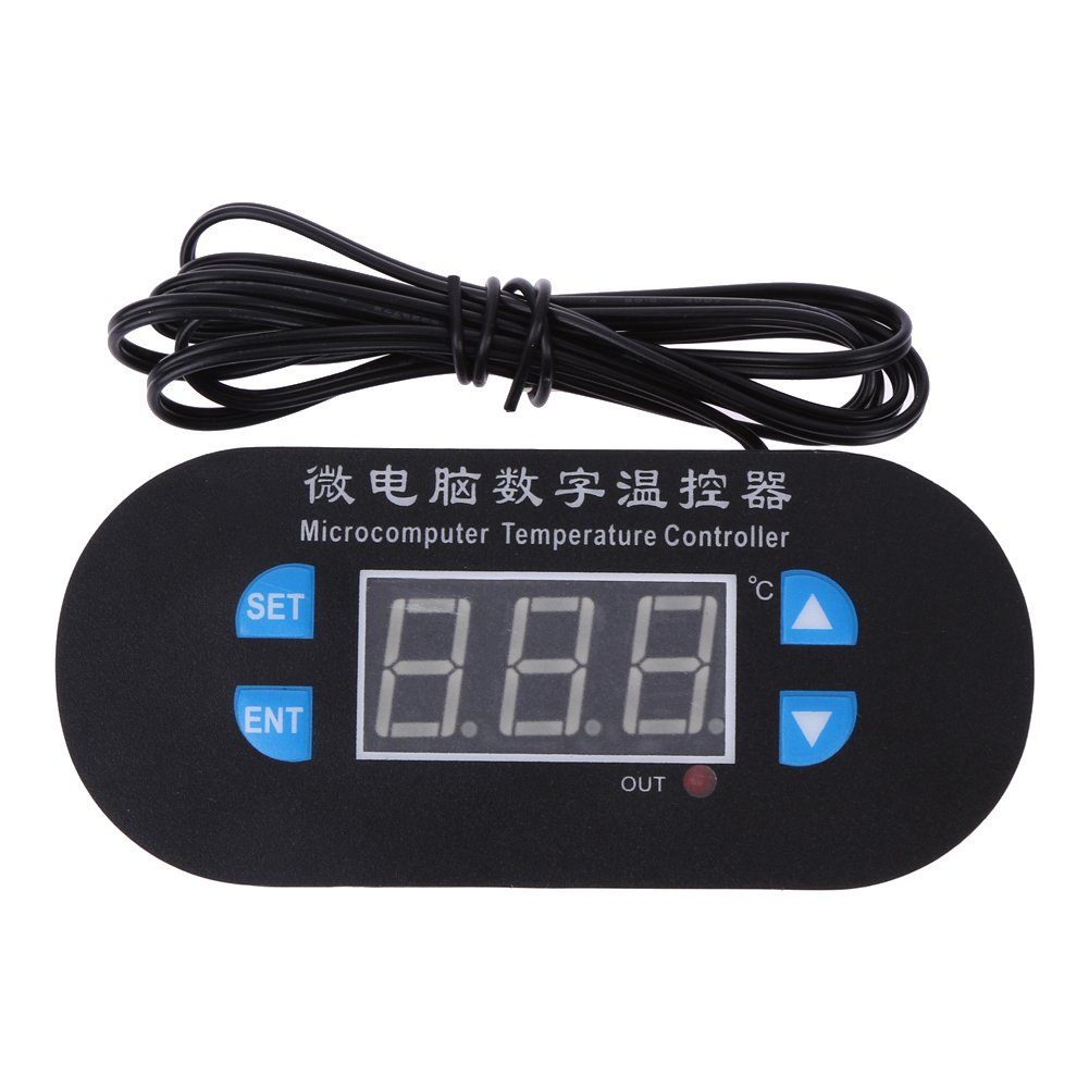 12V Digital Temperature Controller with NTC Sensor Red And Blue Display Amazingdeal365