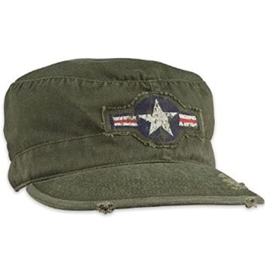 00abdee9fba Amazon.com  Rothco Vintage Olive Drab Air Corp Fatigue Cap  Military  Apparel Accessories  Sports   Outdoors