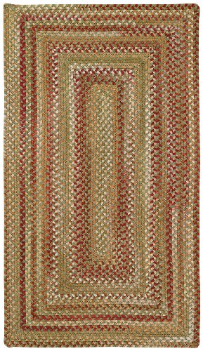 Homecoming Evergreen 3' x 5' Concentric Braided Area Rug by Capel Rugs
