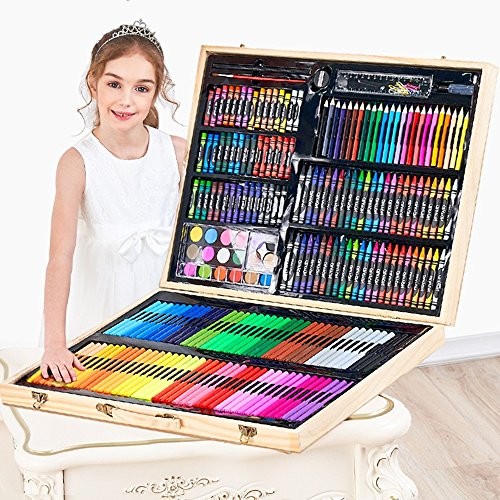 Artist art drawing set, 251 Wooden Paintings For Art Objects Such As Coloring, Art, Drawing, Calligraphy, Manga, Painting, Etc. - A Great Gift For Children And Adults Gifts for children and children. by JIANGXIUQIN (Image #3)