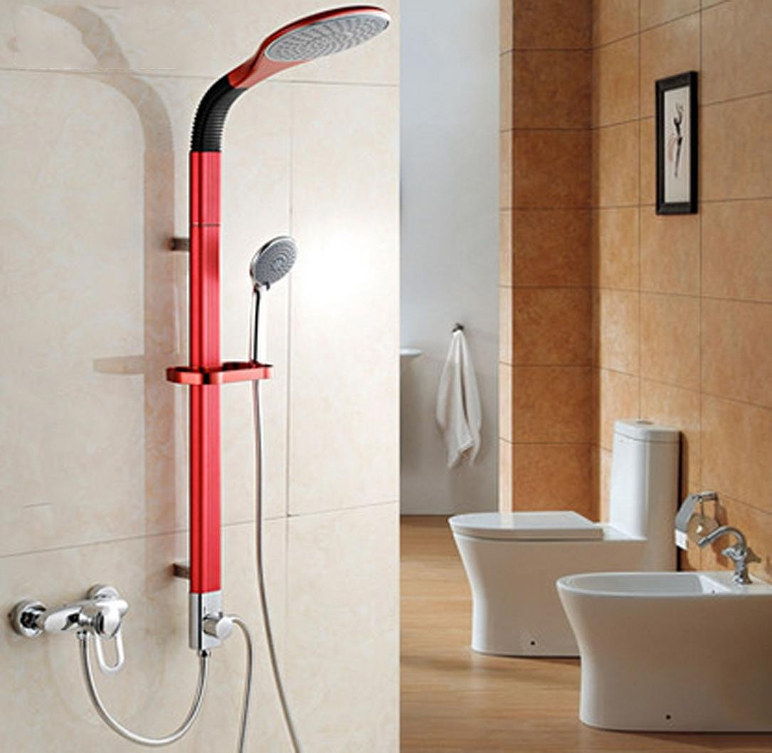 XUEXINBright 4-color aluminum stick shower Kit , bright red