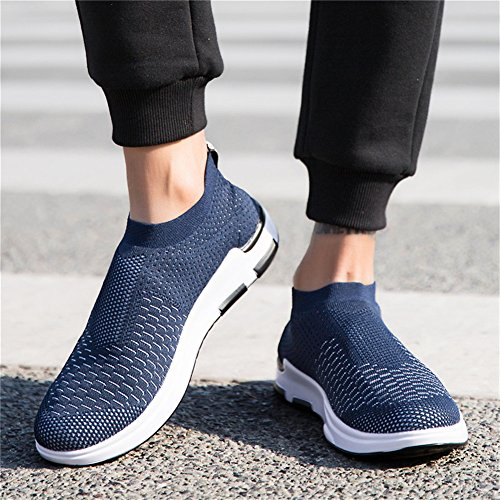 Blue Breathable Shoes Slip Running Outdoor Lightweight Walking Shoes Mens IceUnicorn Sneakers Casual Trainers On YW88qO
