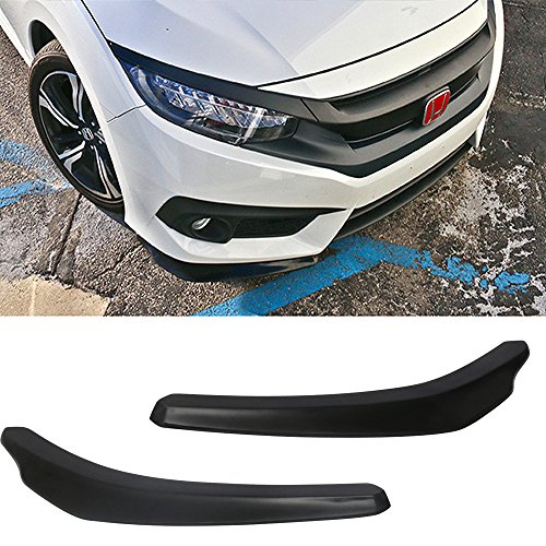 Front Bumper Lip Fits Universal Vehicles 24 Inch x 4 Inch | IKONStyle Black PP Front Lip Finisher Under Chin Spoiler Add On by IKON ()