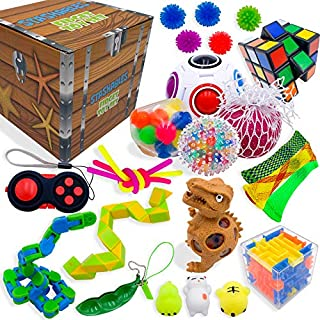 Sensory Fidget Toys Set, Fidget Toys for Adults and Kids, Stress Relief and Anti Anxiety Toys, Cool Fidget Toys Set 25 pcs, Non-Toxic Child Safe Fidget Toys, Fidget Cube to Improve Attention and Focus