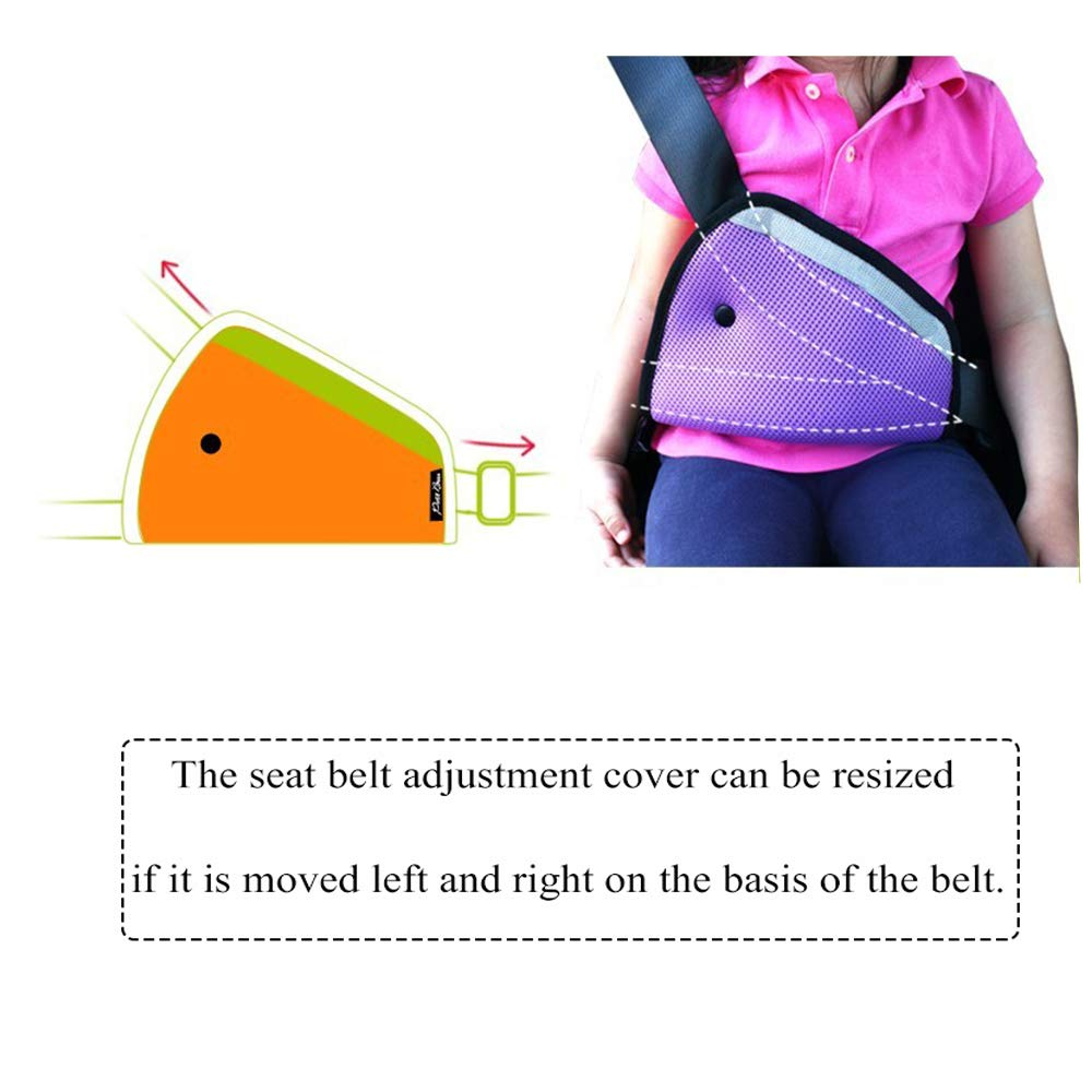 Red Shoulder Strap Protector Positioner Locking Clip Vehicle Car Seat Belt Safety Harness Covers Shock Absorption and Compressive Pressure for Adult Kids X-BLTU 2PCS Seatbelt Adjuster