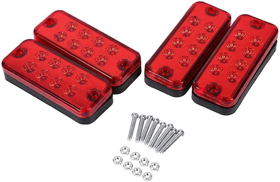 Gelb-12V DOEU Seitenmarkierungsleuchten Markierungsleuchten Standlicht 1 Set 4 St/ück 8 LED Lampe Perlen Universalanzeige f/ür Positionslampen LED Signalleuchte f/ür LKW-Anh/änger