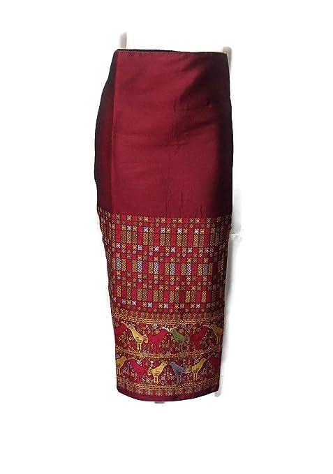 Pegamento para tela de seda sintética de color granate rojo ...