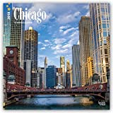 Chicago 2018 12 x 12 Inch Monthly Square Wall Calendar, USA United States of America Illinois Midwest City (Multilingual Edition)