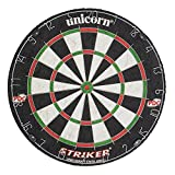 Unicorn Striker Tournament Size, Competition-Quality Bristle Dartboard with SuperSlim Wire Fasteners to Reduce Bounce Outs