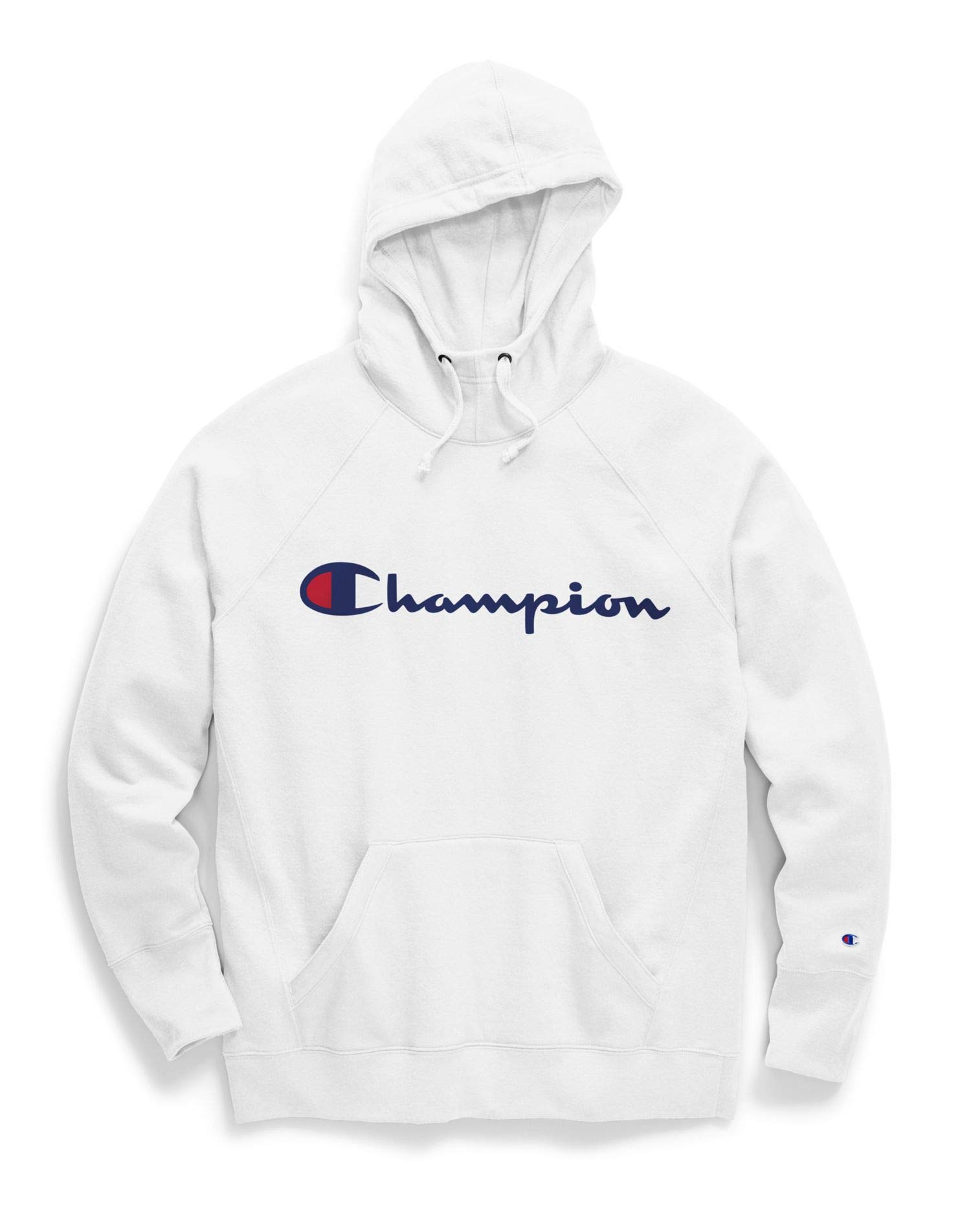 Champion Women's Powerblend Hoodie, White w/Graphic, Medium by Champion
