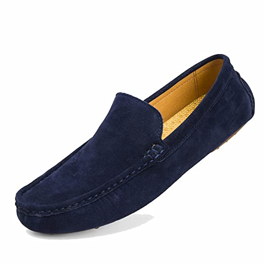 Men's Flexibility Pigskin Leather Shoes Slip-on Design Wear-Resistance Oxford Outsole Casual Driver Shoes