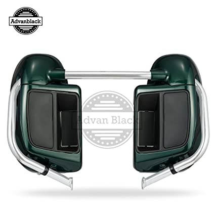 Deep Jade Pearl Lower Vented Fairings Fit for Harley Davidson Touring Road Street Glide FLTR 2014