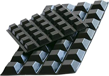182 Black Self Adhesive Rubber Feet Free with p/&p.