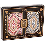Springbok KEM Paisley Playing Cards: 2 Deck Set Red and Blue, Jumbo Index