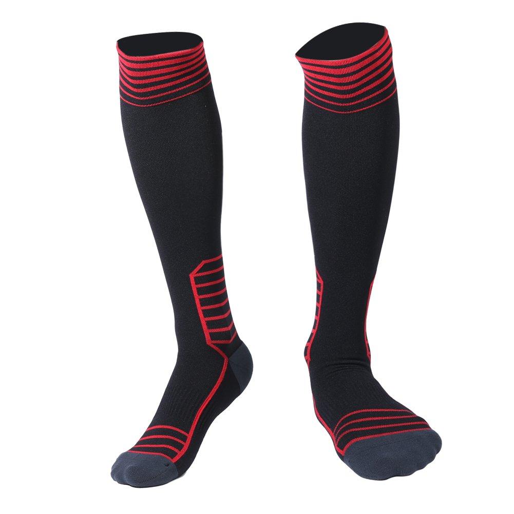 e6462c4a3 HAUEA Calcetines de Compresión Hombre y Mujer Medias de Compresión para Deporte  Running Fútbol Ciclismo Mejorar