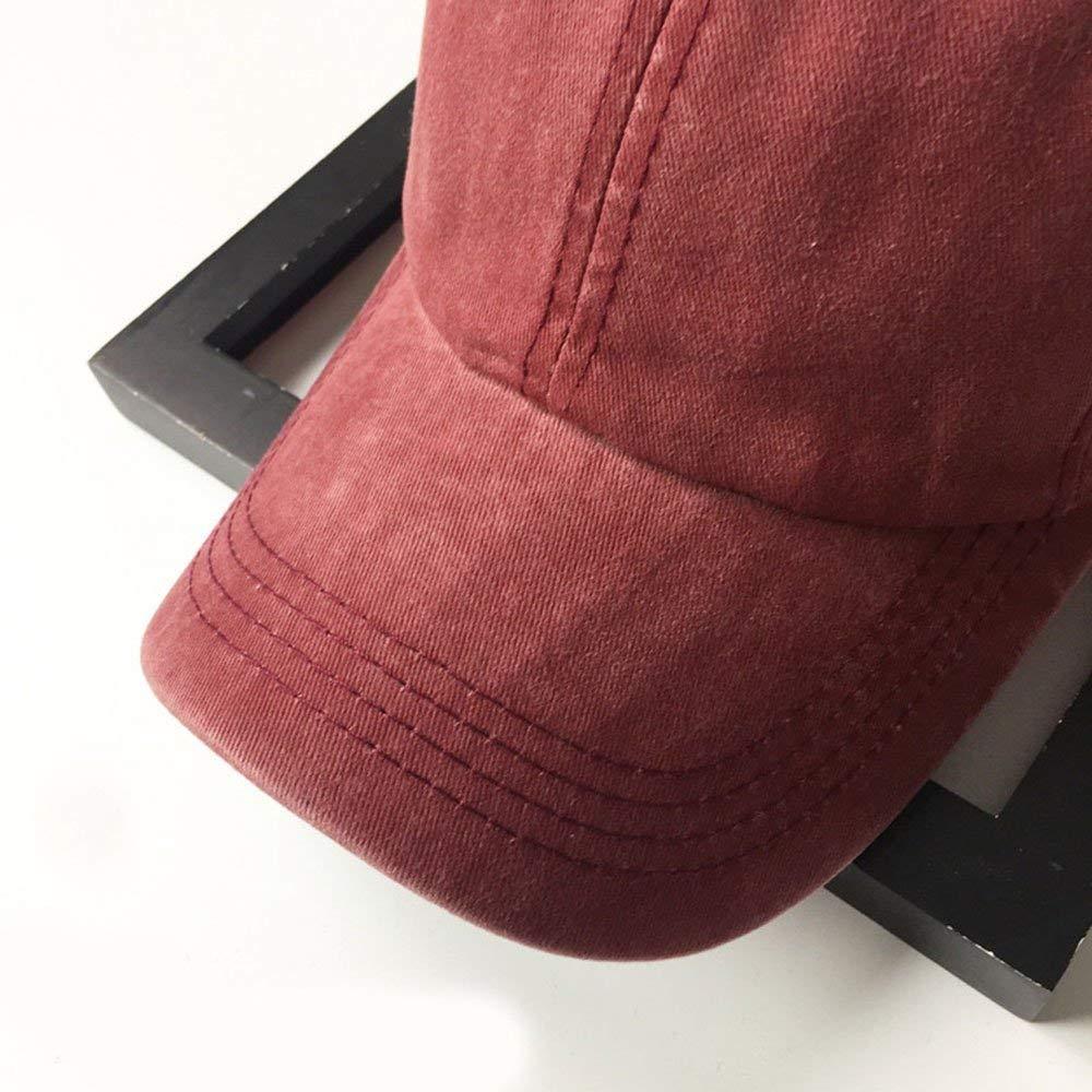 Unisex Vintage Washed Distressed Baseball-Cap Twill Adjustable Dad-Hat (Z-2pc (Black+Burgundy)) by Mommy Jennie (Image #3)