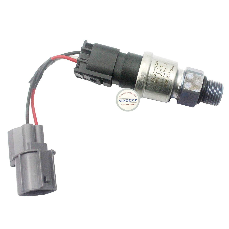 LC52S00013F1 YT13E01082P1 Low Pressure Sensor 3MPa - SINOCMP Pressure Sensor for Kobelco SK200-8 SK250-8 Excavator Parts Pressure Switch, 3 Month Warranty