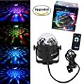 RECHING Crystal Magic Rotating Ball 3rd Generation Sound Actived Effect Led Stage Lights 7 Color Changing 3W RGB For KTV Lighting Xmas Party Wedding Show Club Pub Disco DJ Lighting(RGB 3W) by Reching