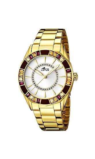 Lotus 15892/1 - Reloj de pulsera Mujer, Acero inoxidable, color dorado: Amazon.es: Relojes