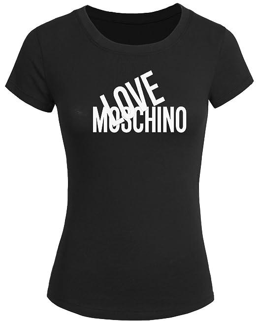 c16e101a22 Maglietta 2016 da donna con stampa in lingua inglese Love Moschino, t-shirt  a maniche corte