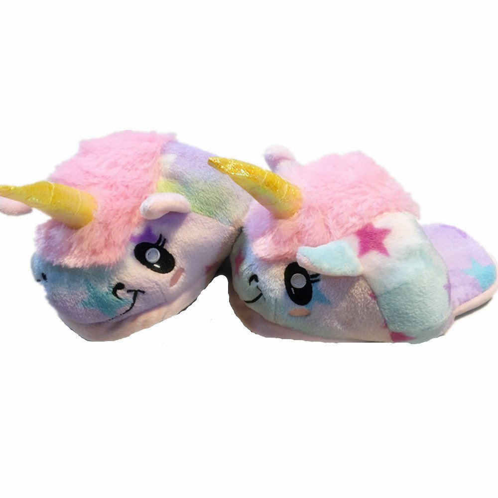 Amazon.com: Kenmont White Fantasy Plush Unicorn Slippers Soft Plush Slippers for Adult Festival Christmas Gift (Stars): Home & Kitchen